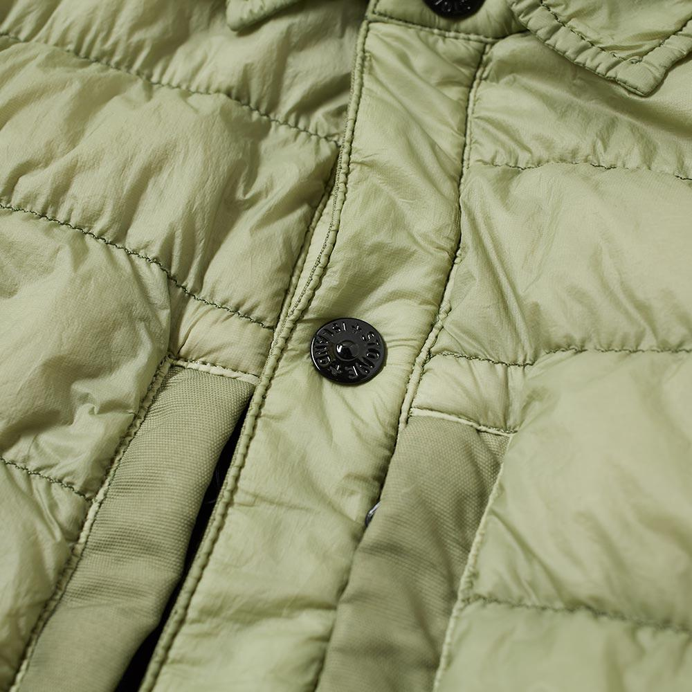 Stone Island Synthetic Garment Dyed Micro Yarn Shirt Jacket in Green for Men