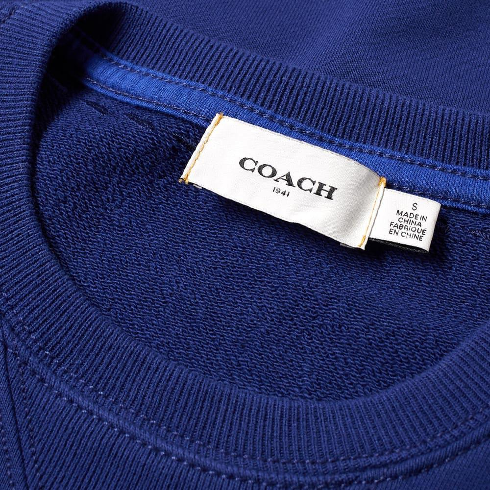 COACH Cotton Rexy Patch Crew Sweat in Blue for Men