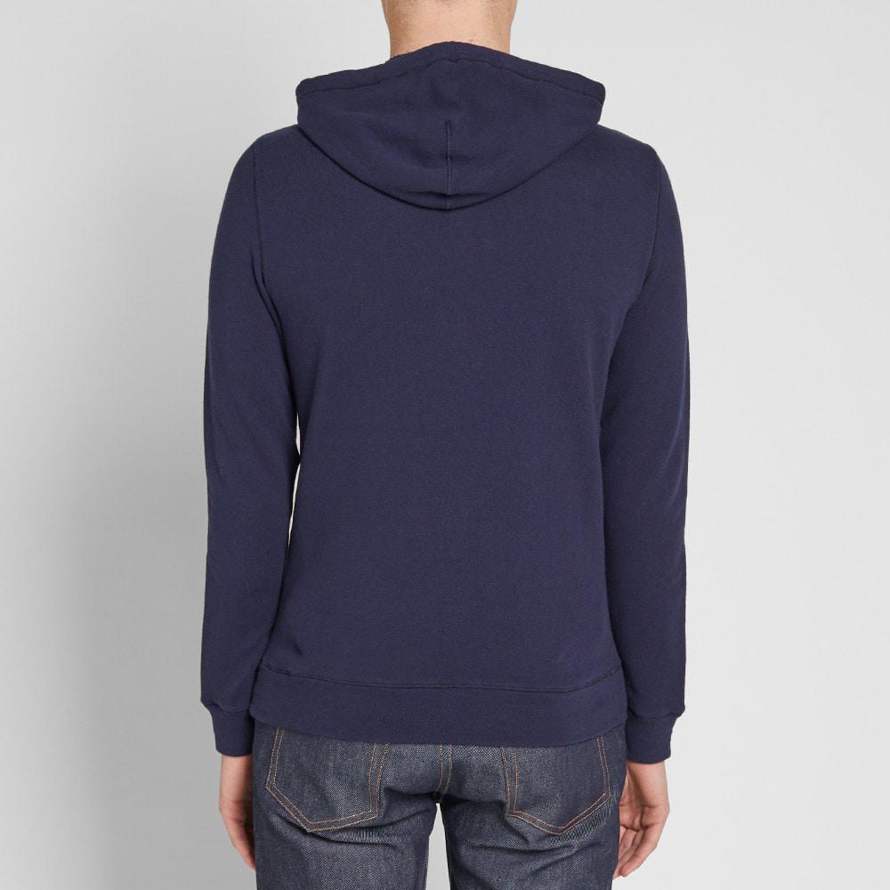 Aspesi Cotton Popover Hoody in Blue for Men