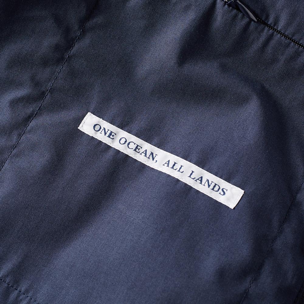 Nanamica Cotton Splash Ground Bomber Jacket in Blue for Men