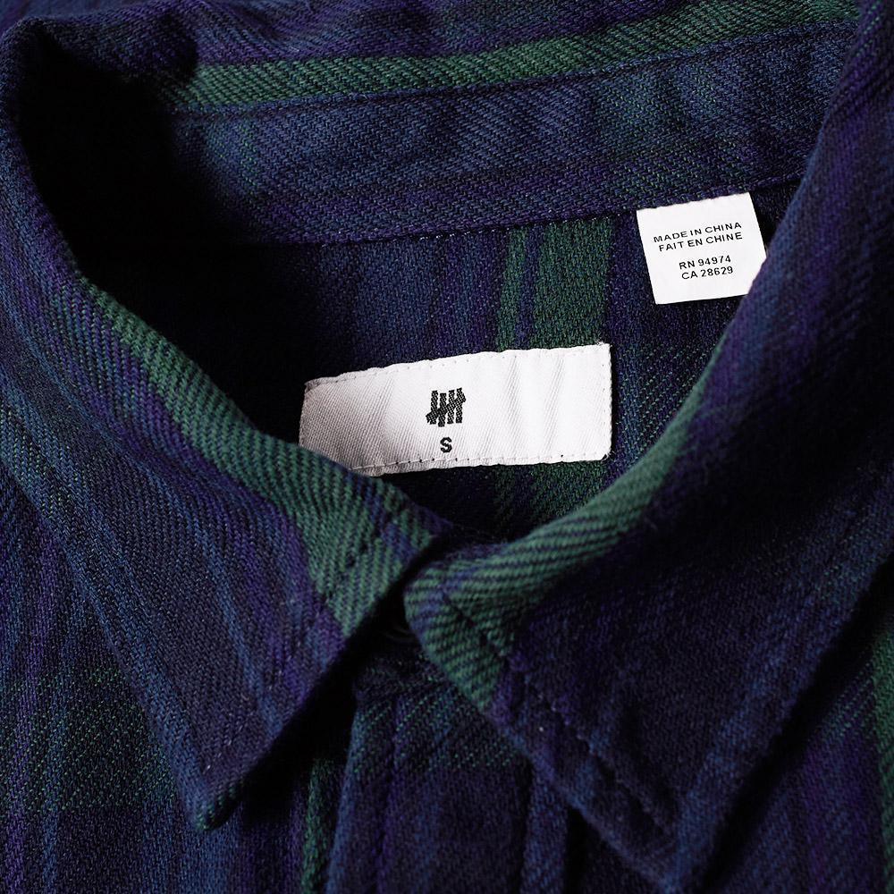 Lyst undefeated heavy plaid flannel shirt in blue for men for Heavy plaid flannel shirt