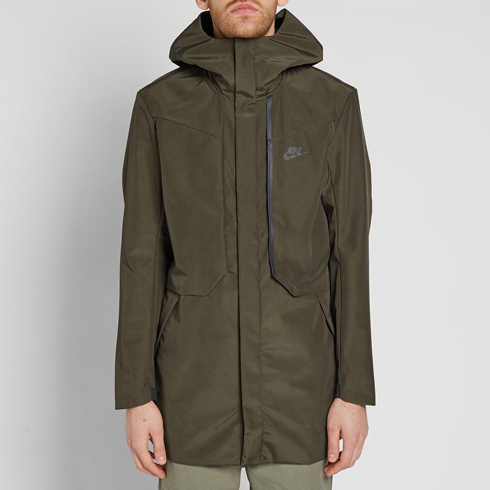 b707115808ad Nike Tech Fleece Hooded Shield Jacket in Green for Men - Lyst