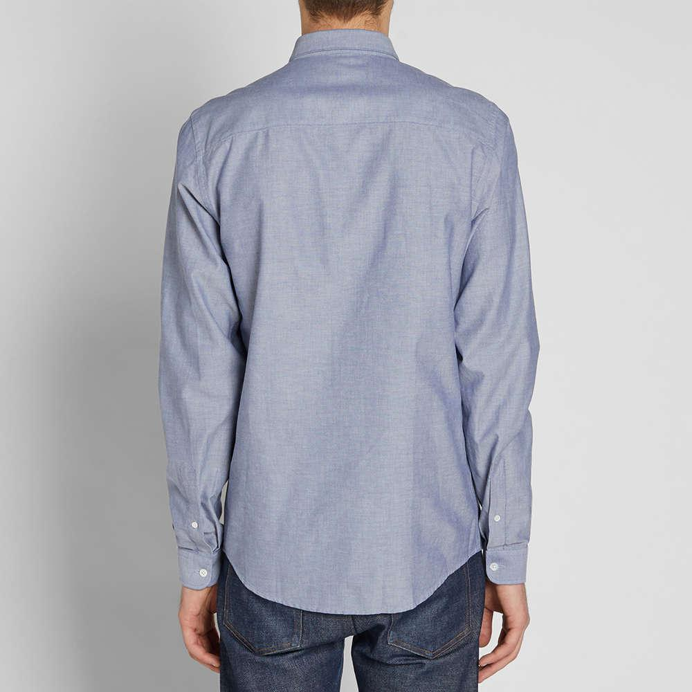 Lyst Ami Button Down Oxford Shirt In Blue For Men