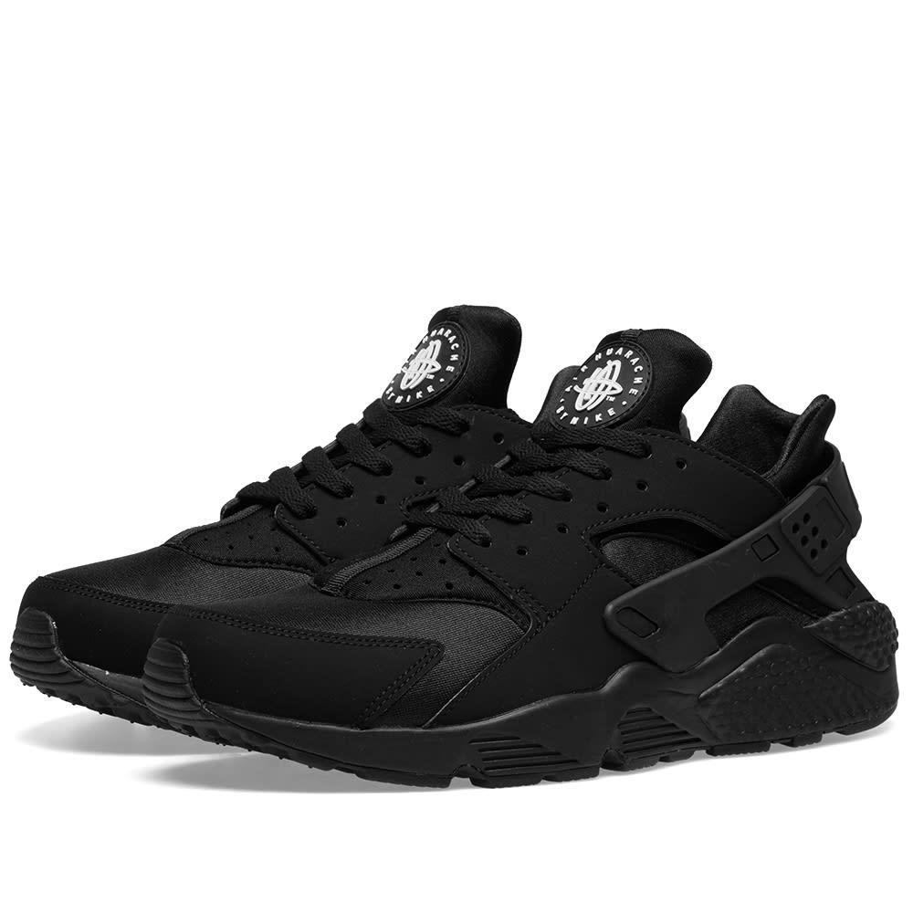 Nike Suede Air Huarache 'triple Black