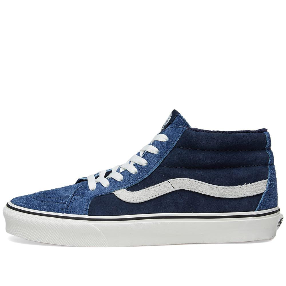 72606e16c8 Vans Sk8-mid Reissue Hairy Suede in Blue for Men - Save 42% - Lyst