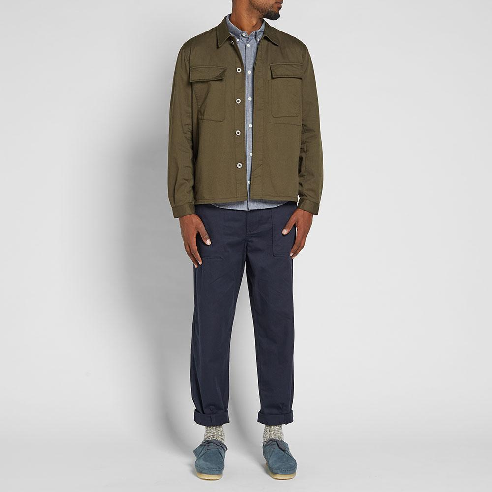 Universal Works Cotton Mw Chore Overshirt in Green for Men