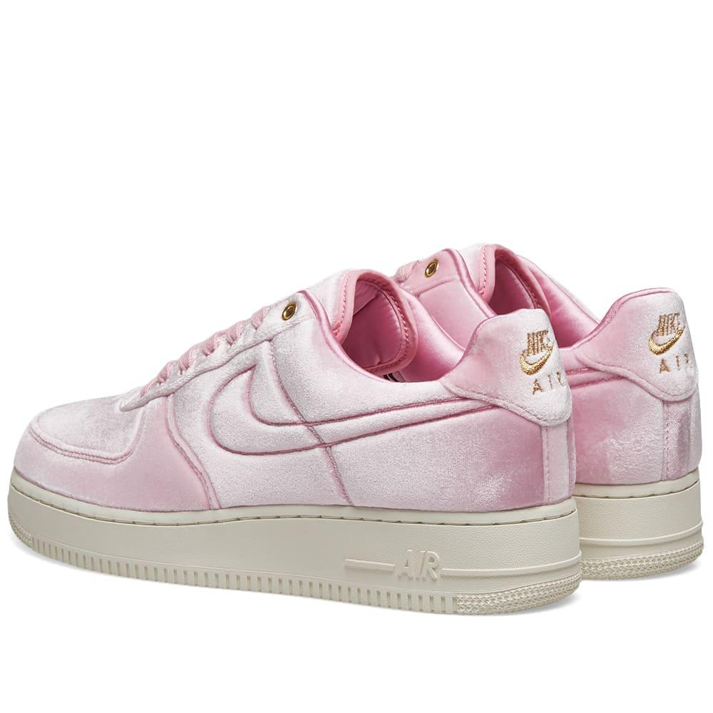 velvet pink air forces
