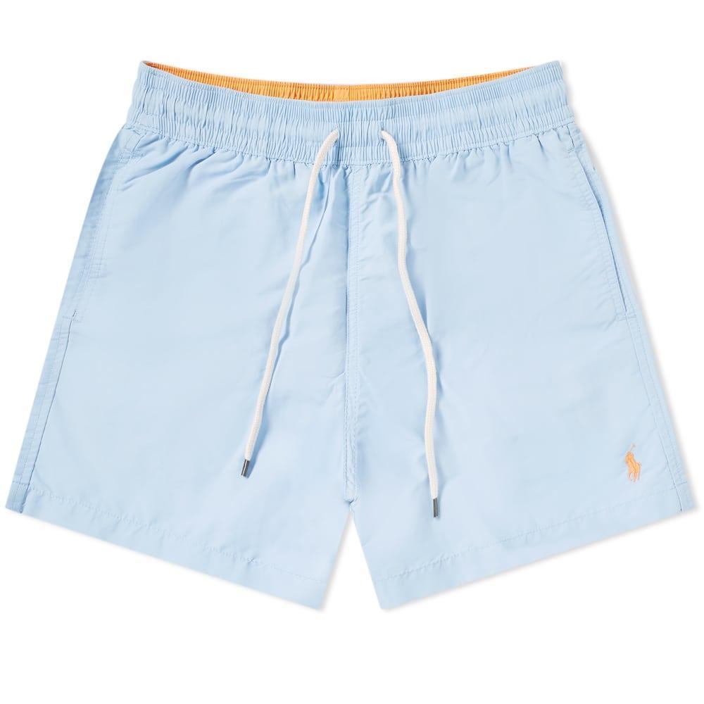 65e046f2be Lyst - Polo Ralph Lauren Classic Traveller Swim Short in Blue for Men