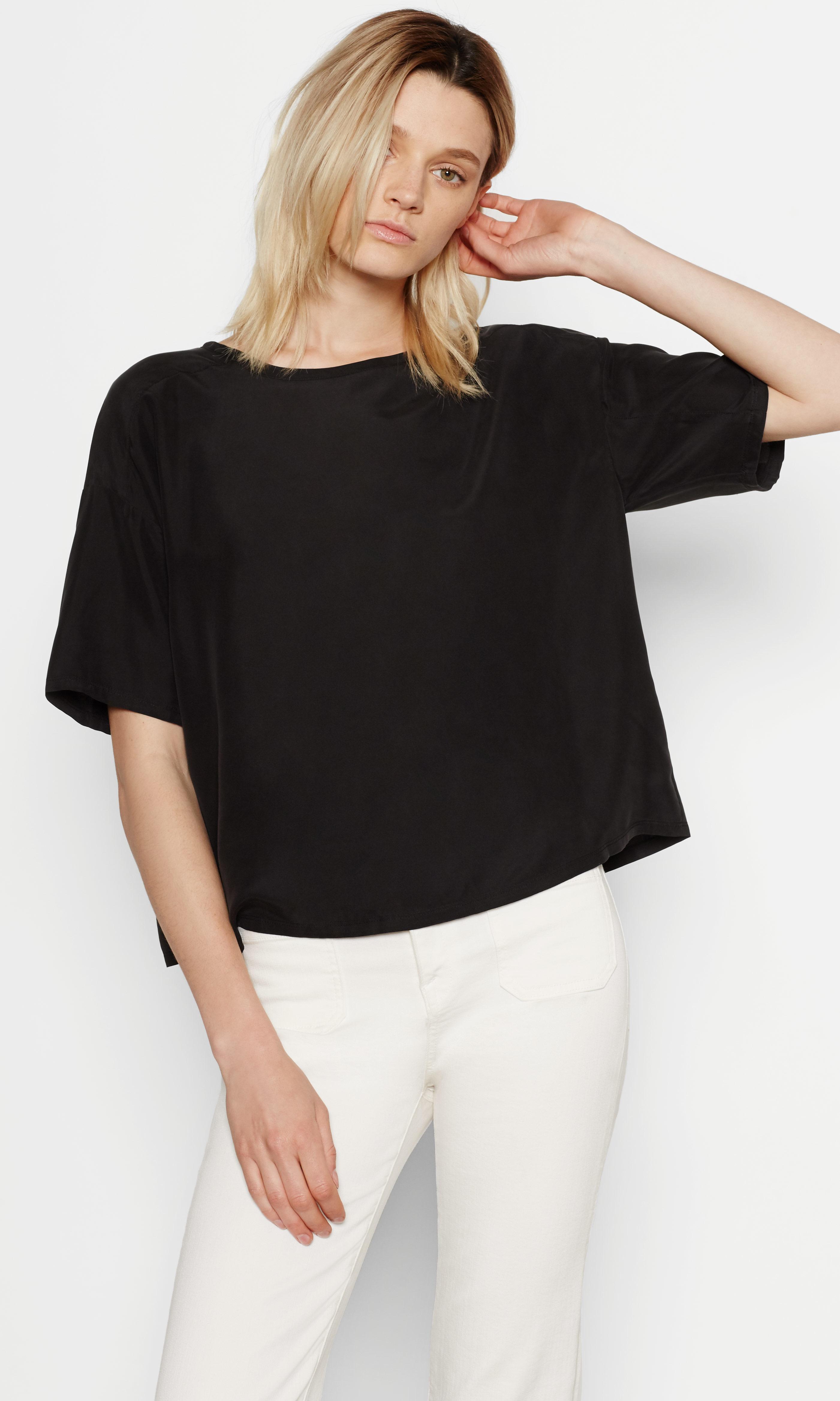 Equipment griffin silk shirt in black lyst for Equipment black silk shirt