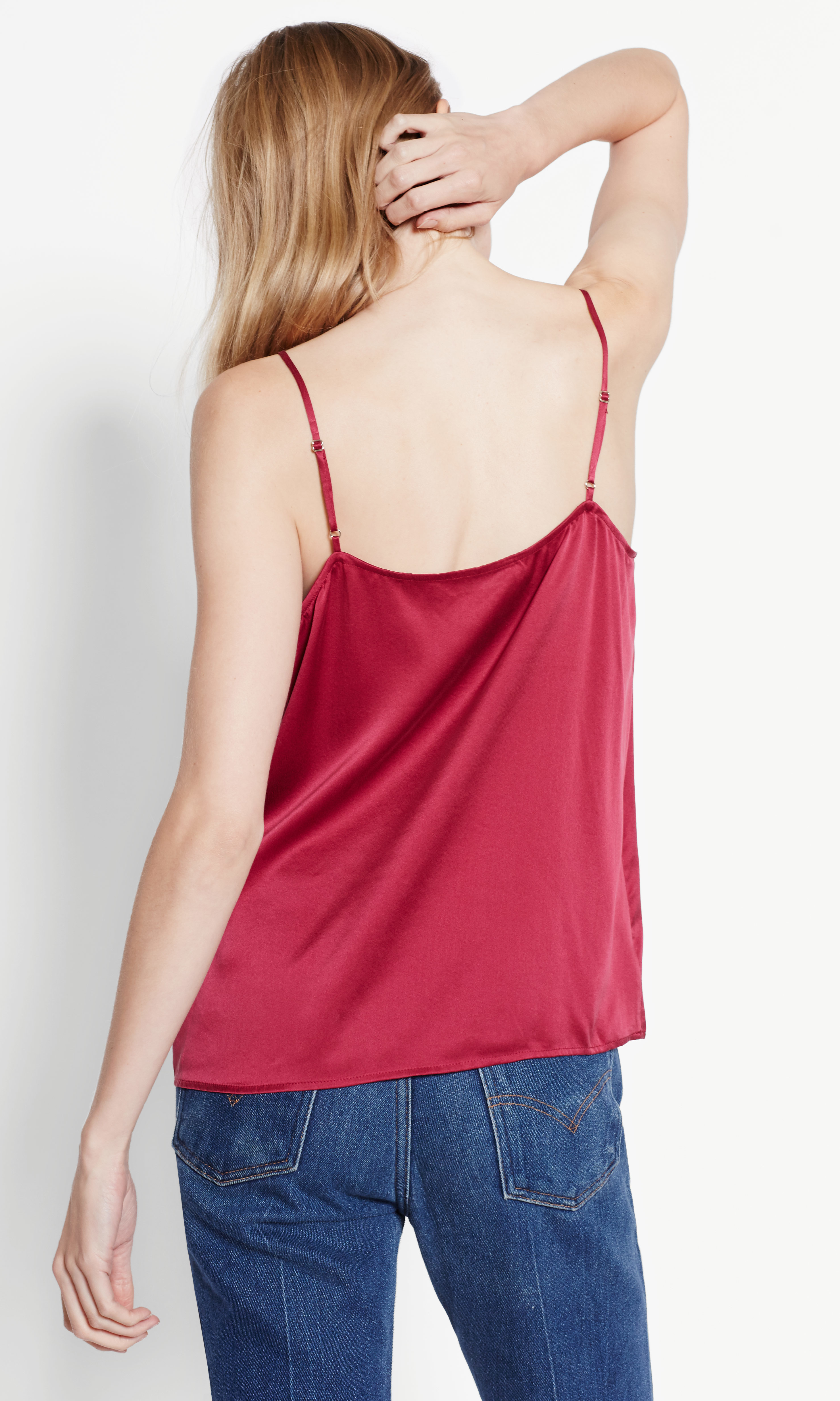 Lyst Equipment Layla Satin Cami In Pink
