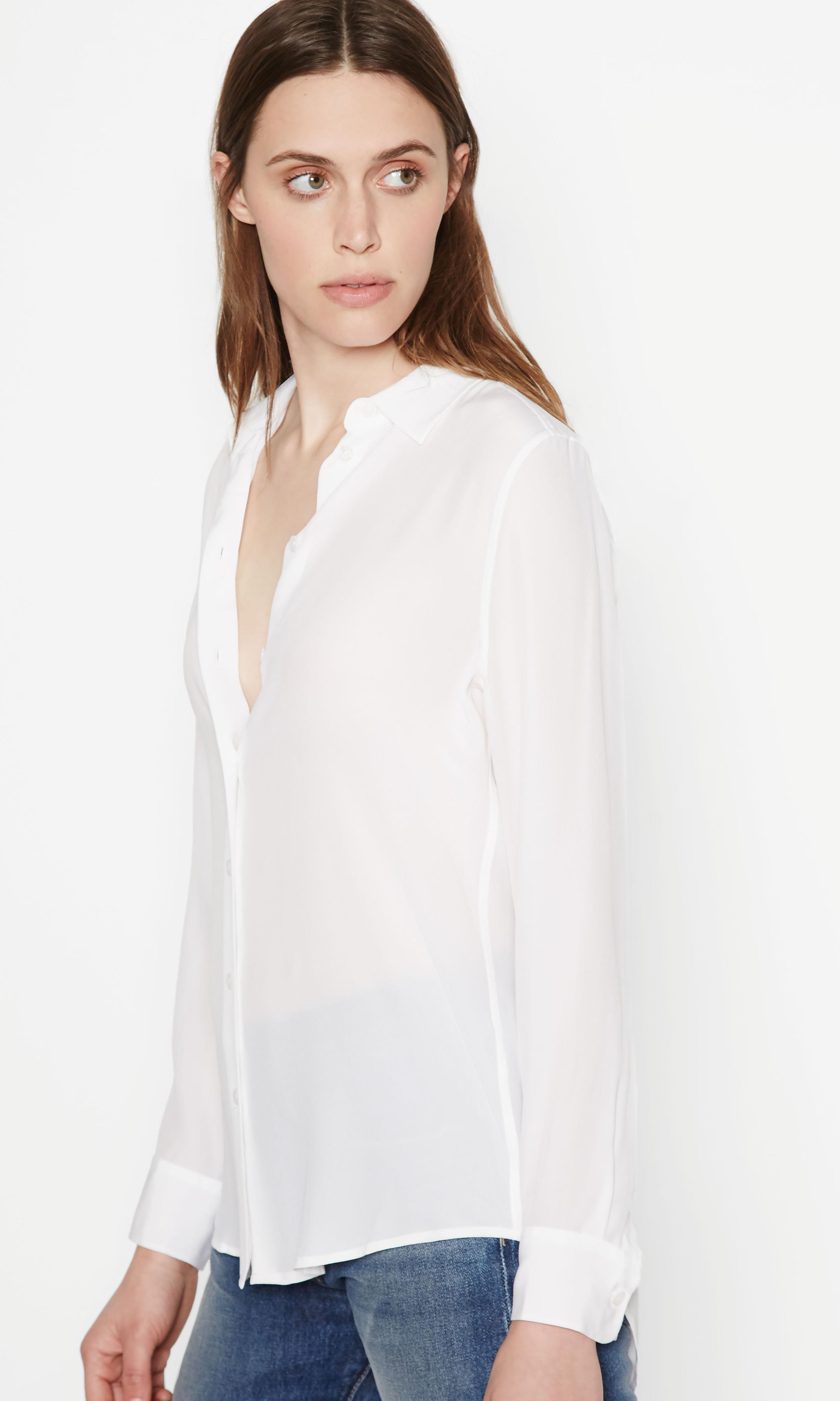 50042eb27579aa Lyst - Equipment Essential Silk Shirt in White