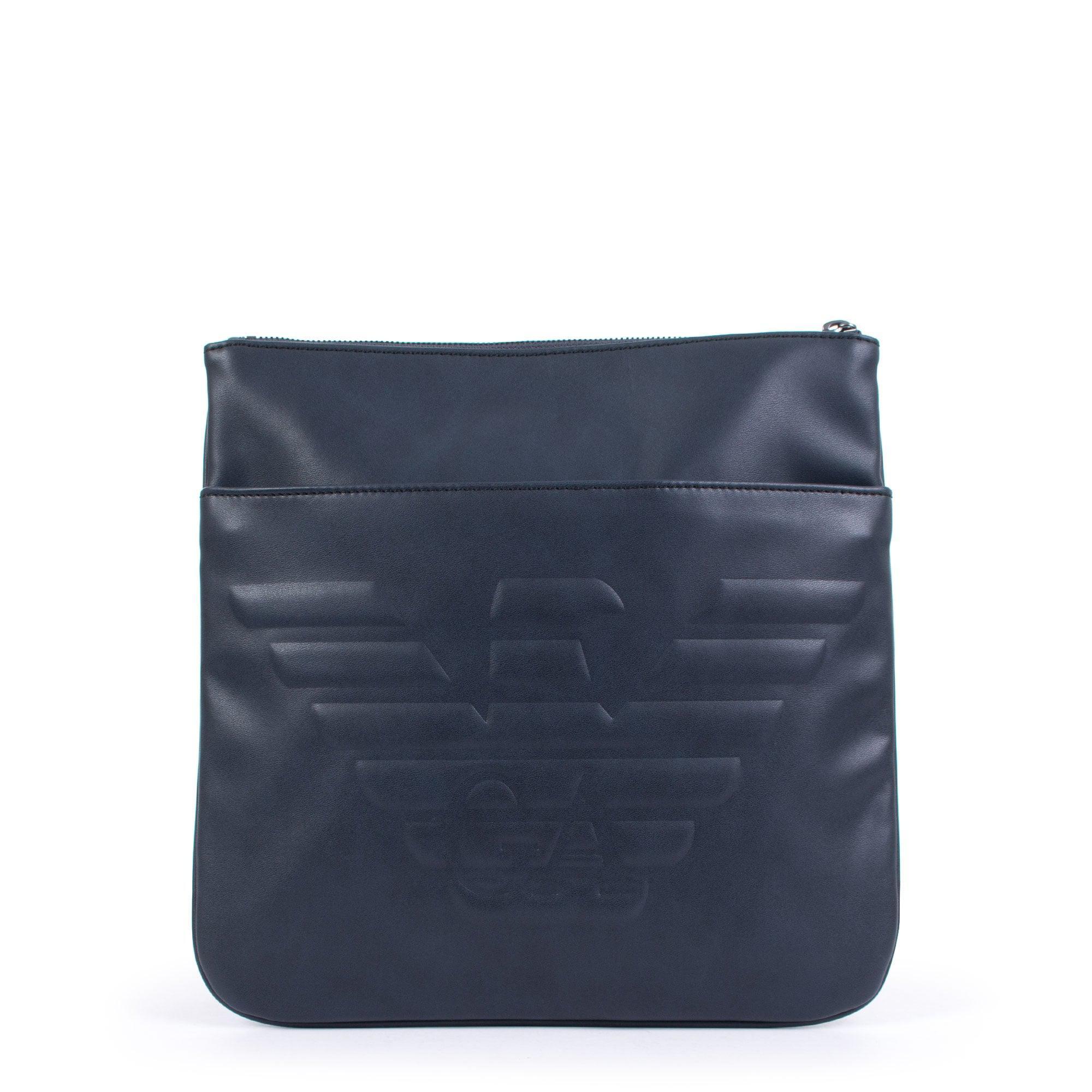 Emporio Armani Logo Cross Body Bag In Navy in Blue for Men - Lyst 4848f69bc833c