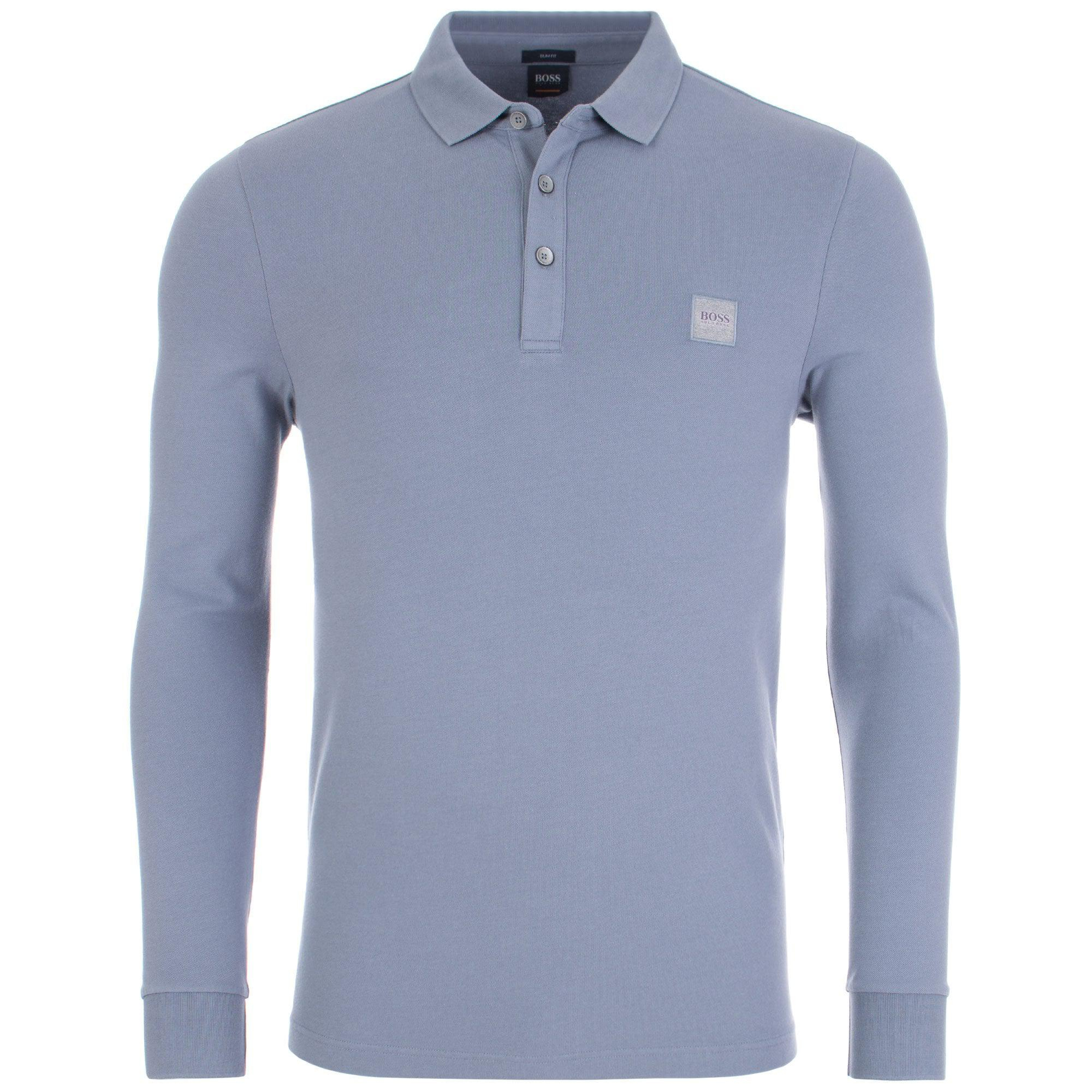 a2996a02 BOSS by Hugo Boss Casual Passerby Slim Fit Long Sleeved Polo Shirt ...
