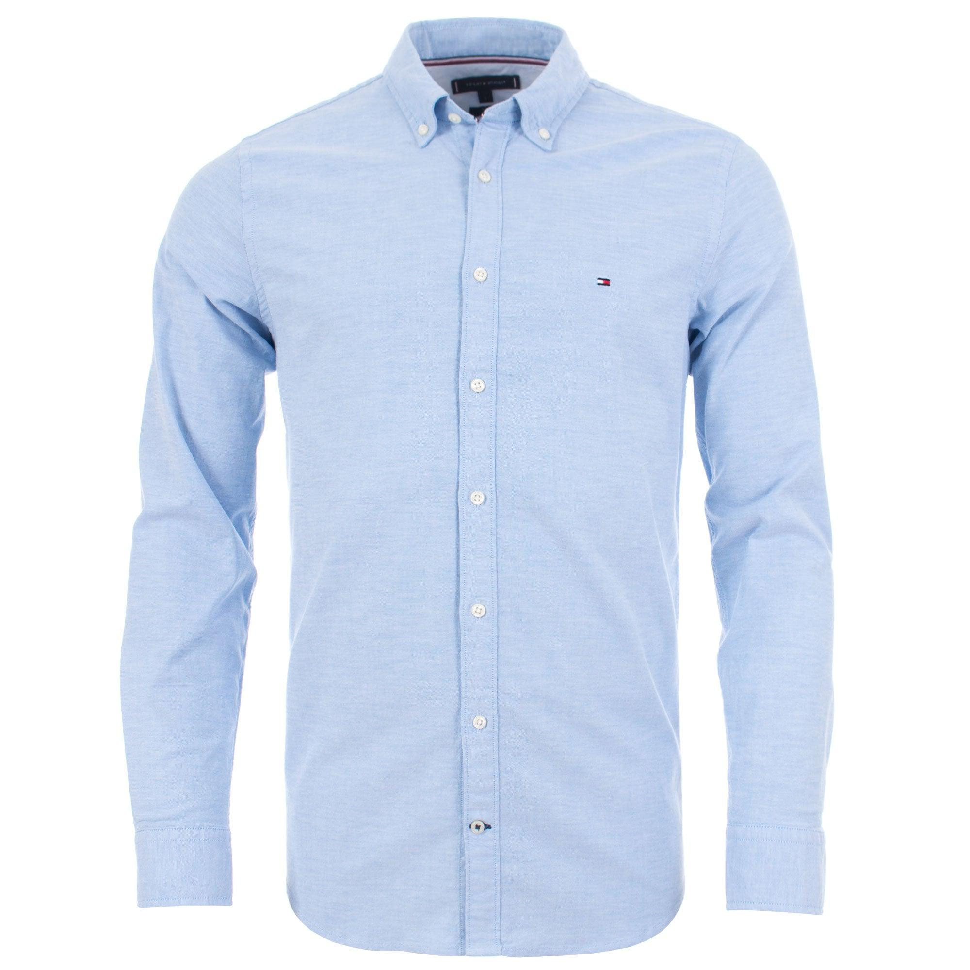 Tommy Hilfiger Slim Fit Core Stretch Oxford Shirt in Blue for Men - Lyst 61524756e09