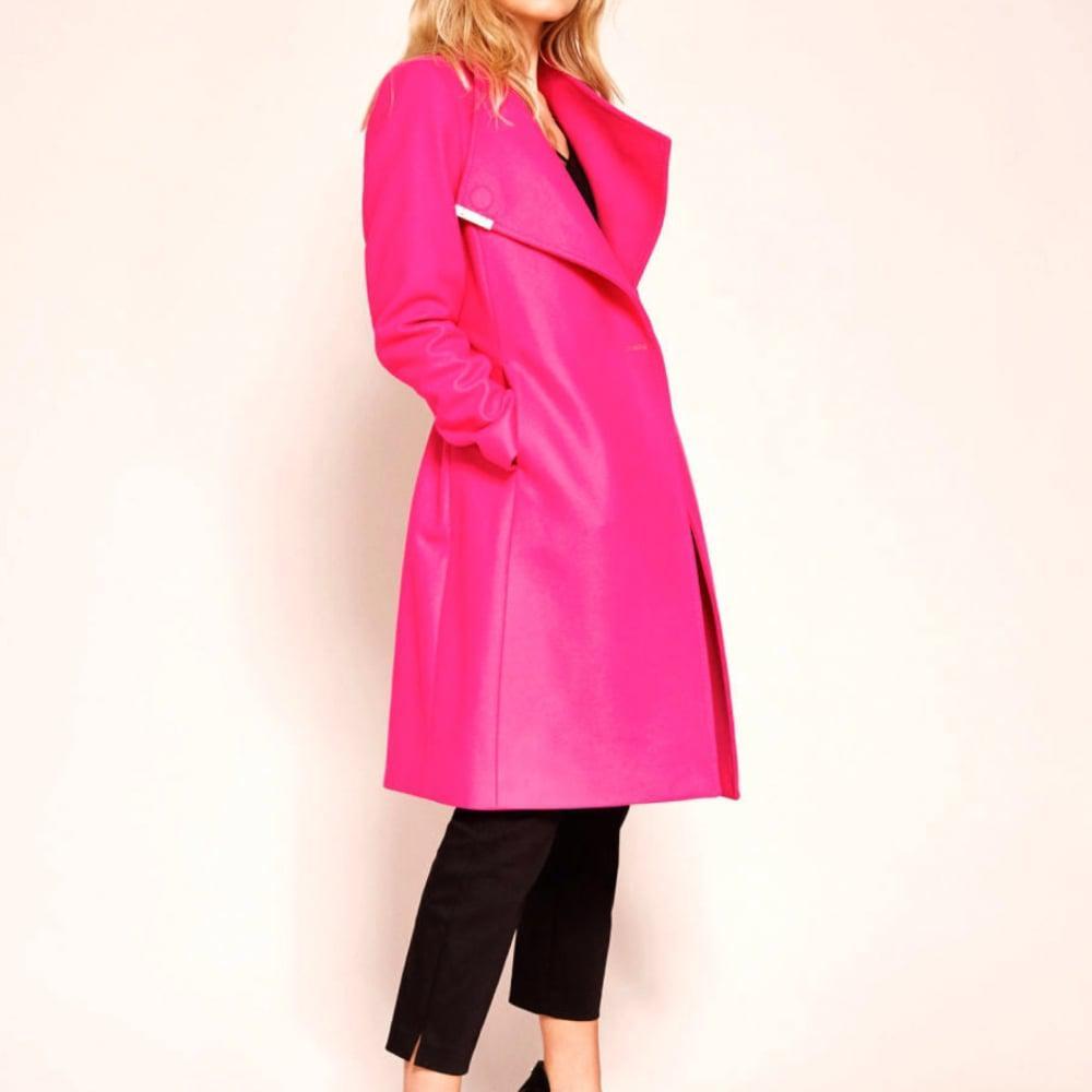 ab96b0f3be557c Ted Baker Kikiie Wool Wrap Coat in Pink - Lyst