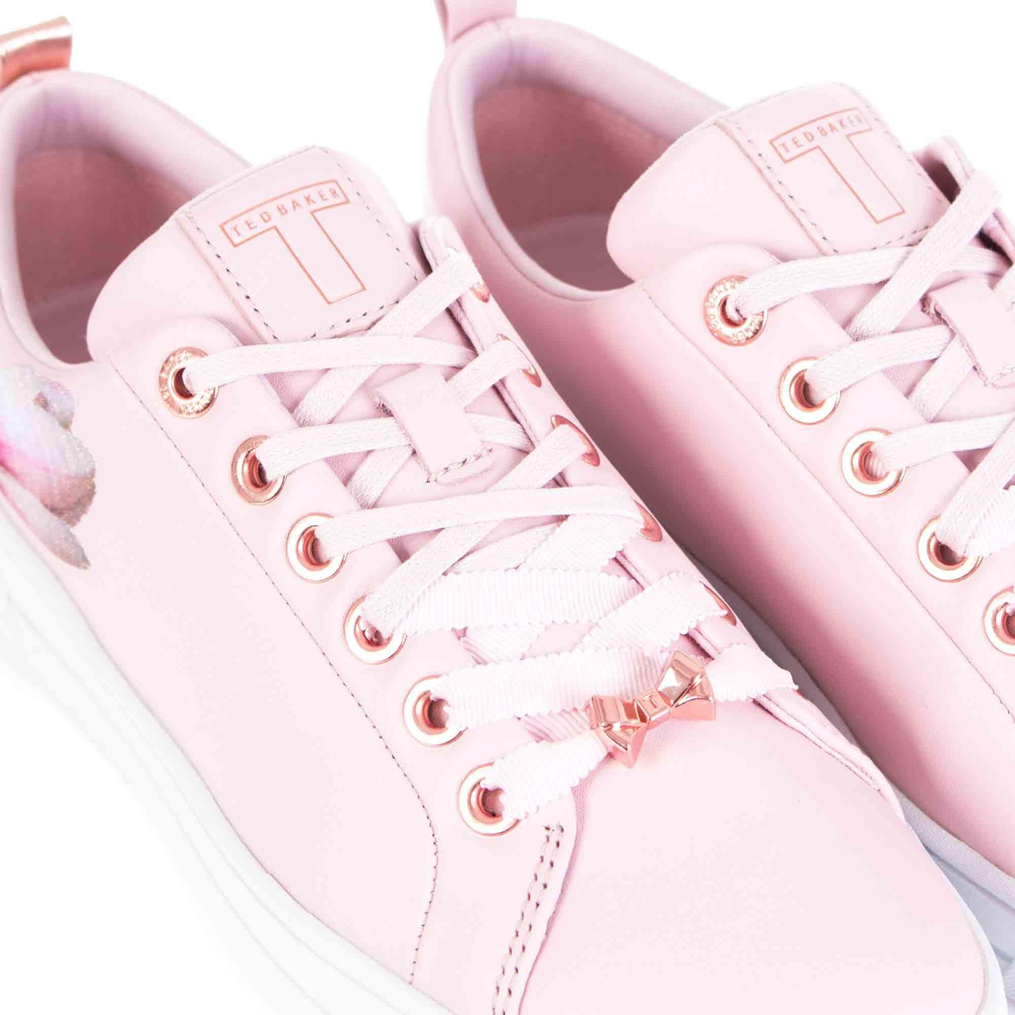 Ted Baker Kelleie Blossom Harmony Leather Sneaker In Pink