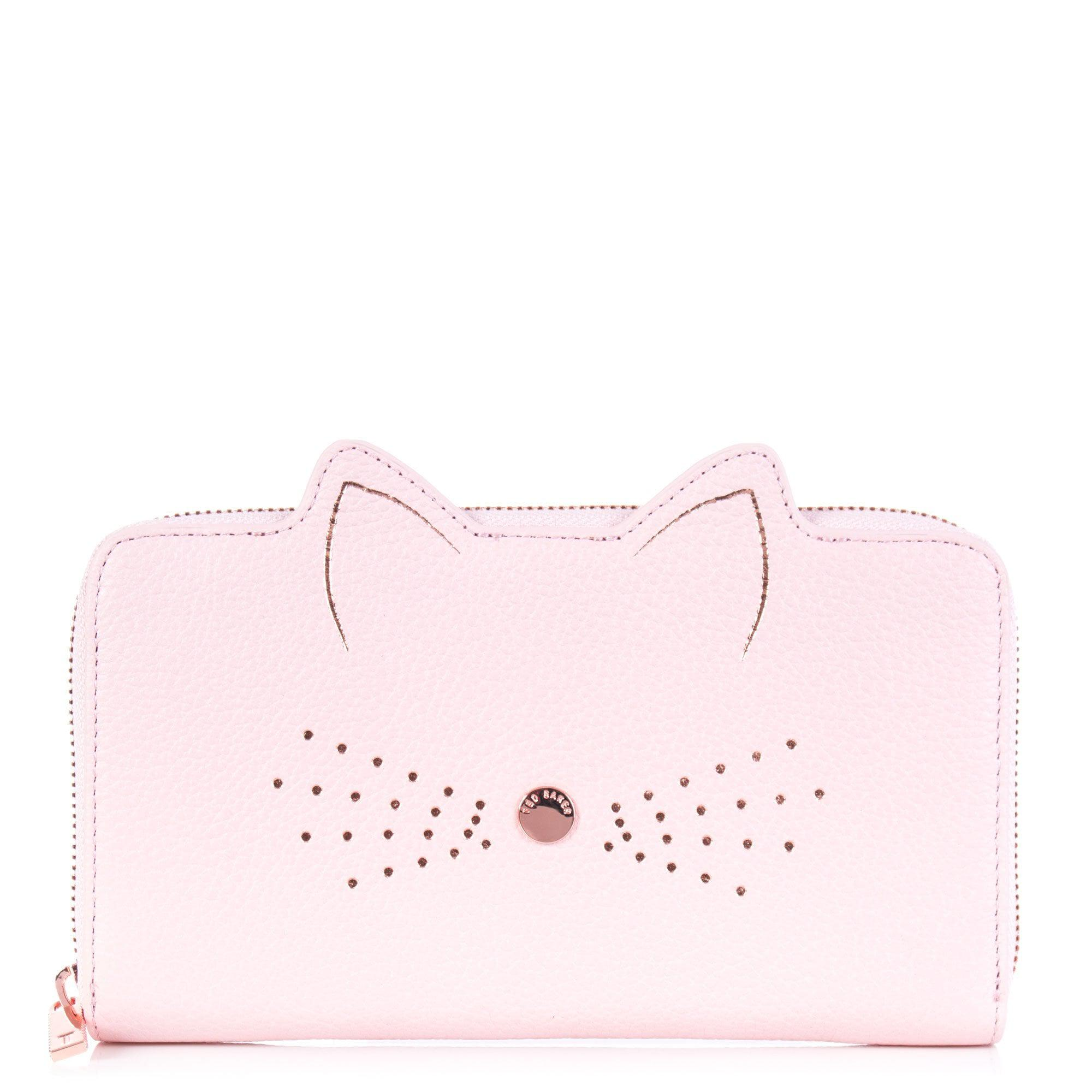 cd8f9c2c86f969 Ted Baker Serini Cat Whiskers Leather Purse in Pink - Lyst