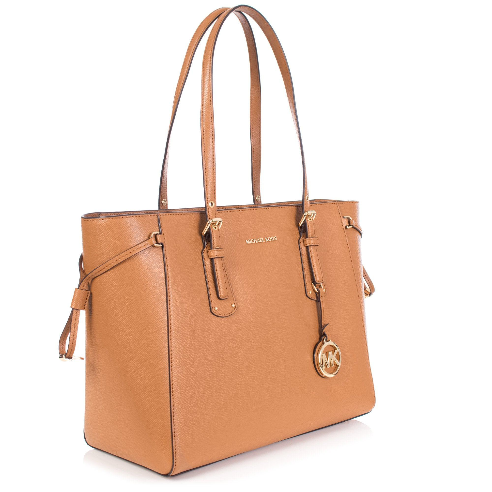 c818001744a94 Michael Kors Voyager Leather Shopper in Brown - Lyst