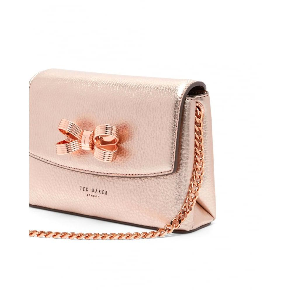 Ted Baker Leather Lupiin Cross Body in Bronze (Pink)