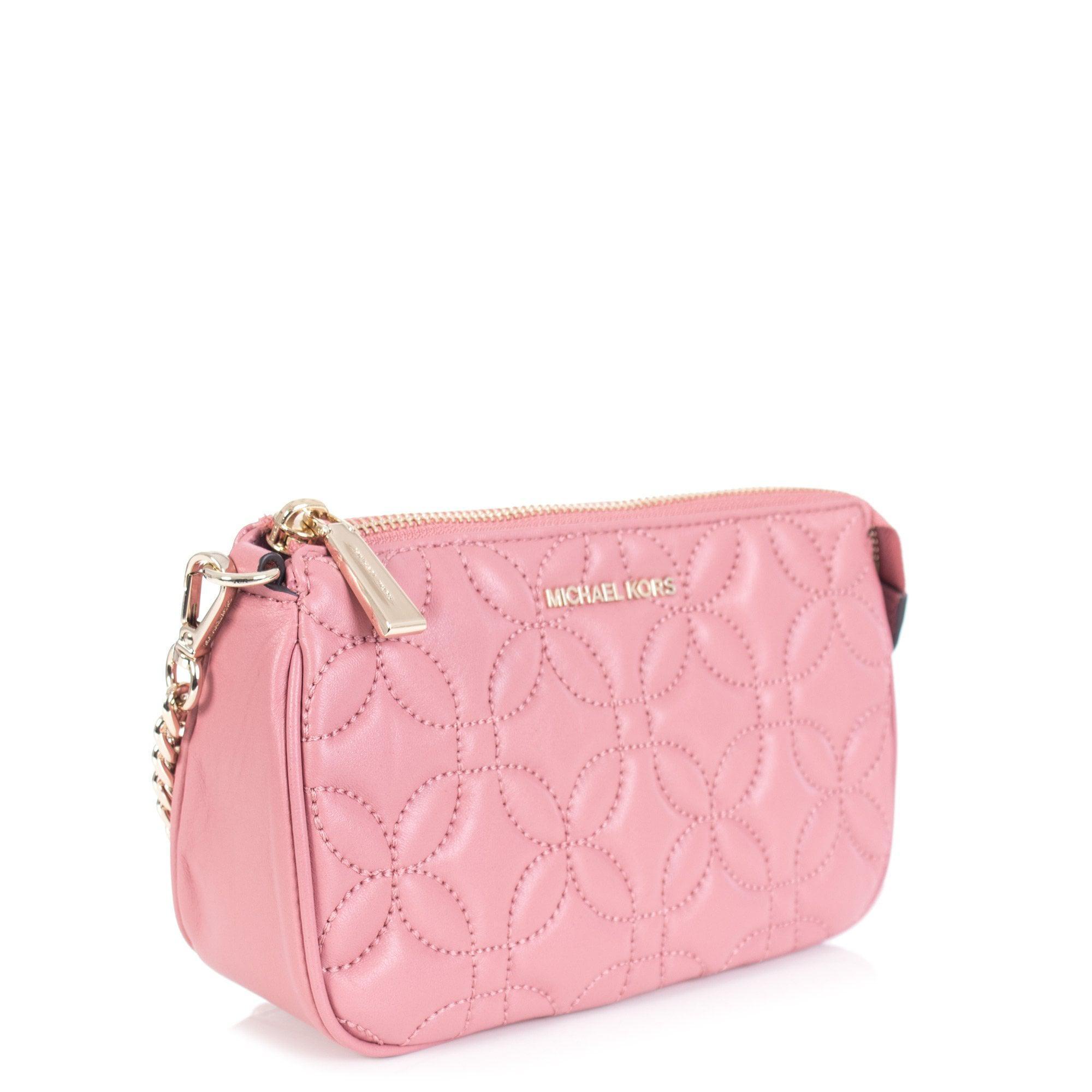 877df1560ffb Michael Kors - Pink Leather Chain Purse - Lyst. View fullscreen