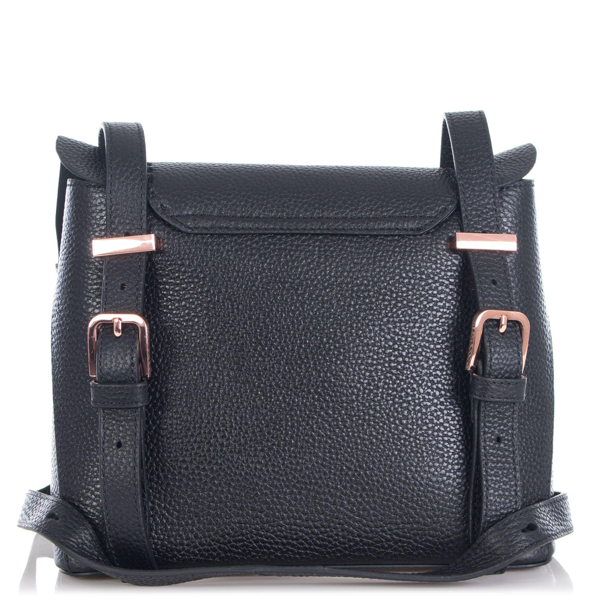 5617d98cd Ted Baker Rammira Leather Ruffle Multiway Backpack in Black - Lyst