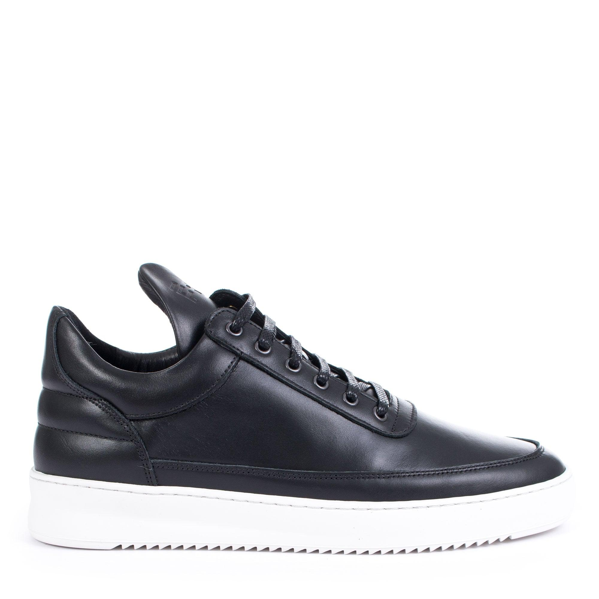 Filling Pieces Leather Low Top Ripple Basic In Black for Men