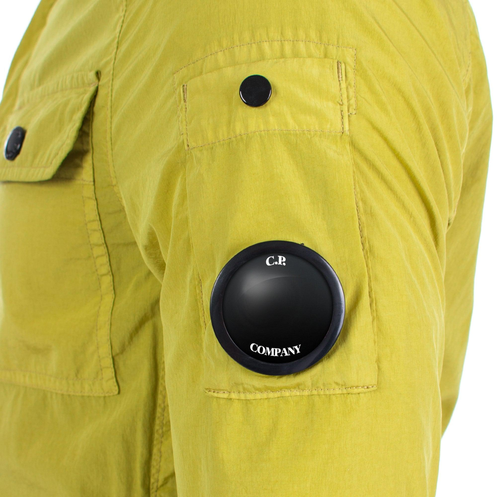 C P Company Synthetic Lens Sleeve Chrome Overshirt for Men