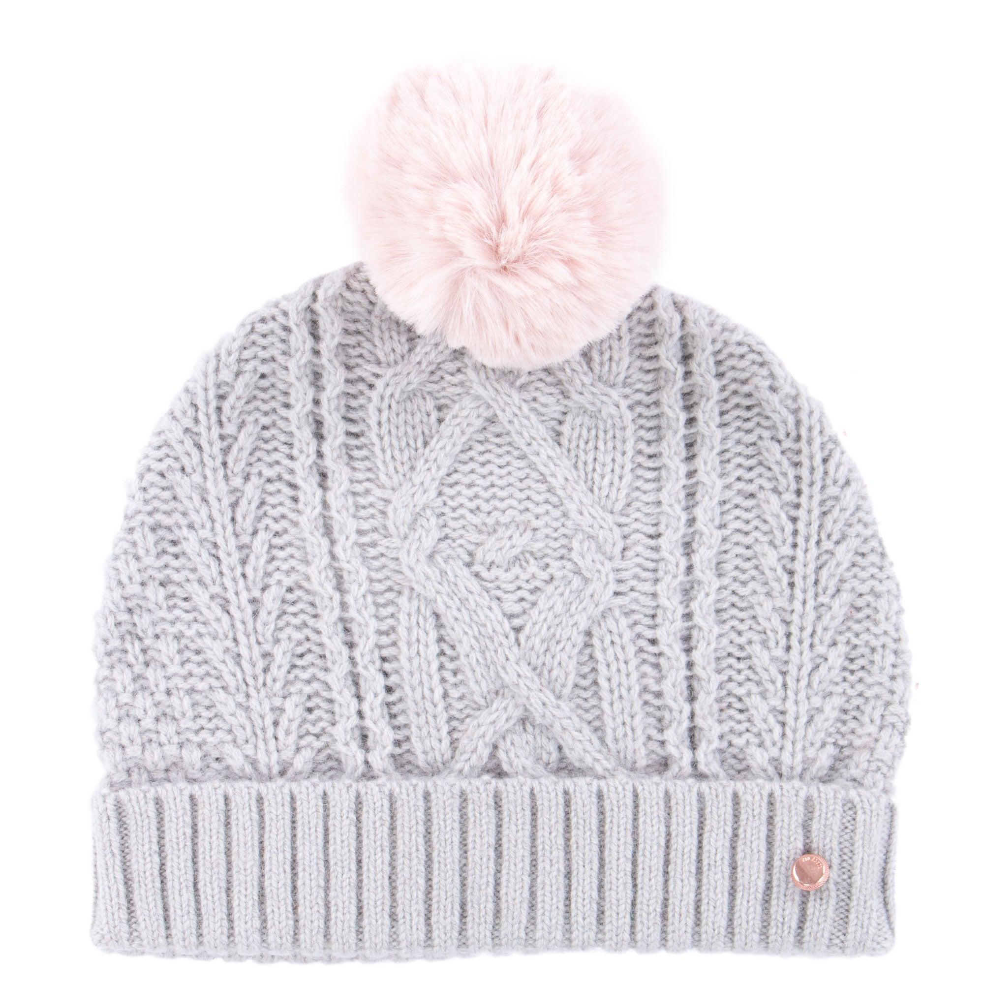 Ted Baker Kyliee Bobble Hat in Gray - Lyst d4874f2f88d
