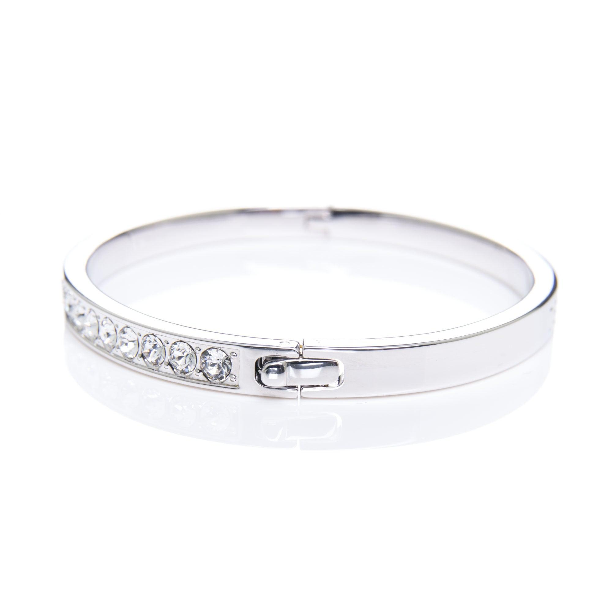 Ted Baker Clemara Crystal Bangle in Silver (Metallic)