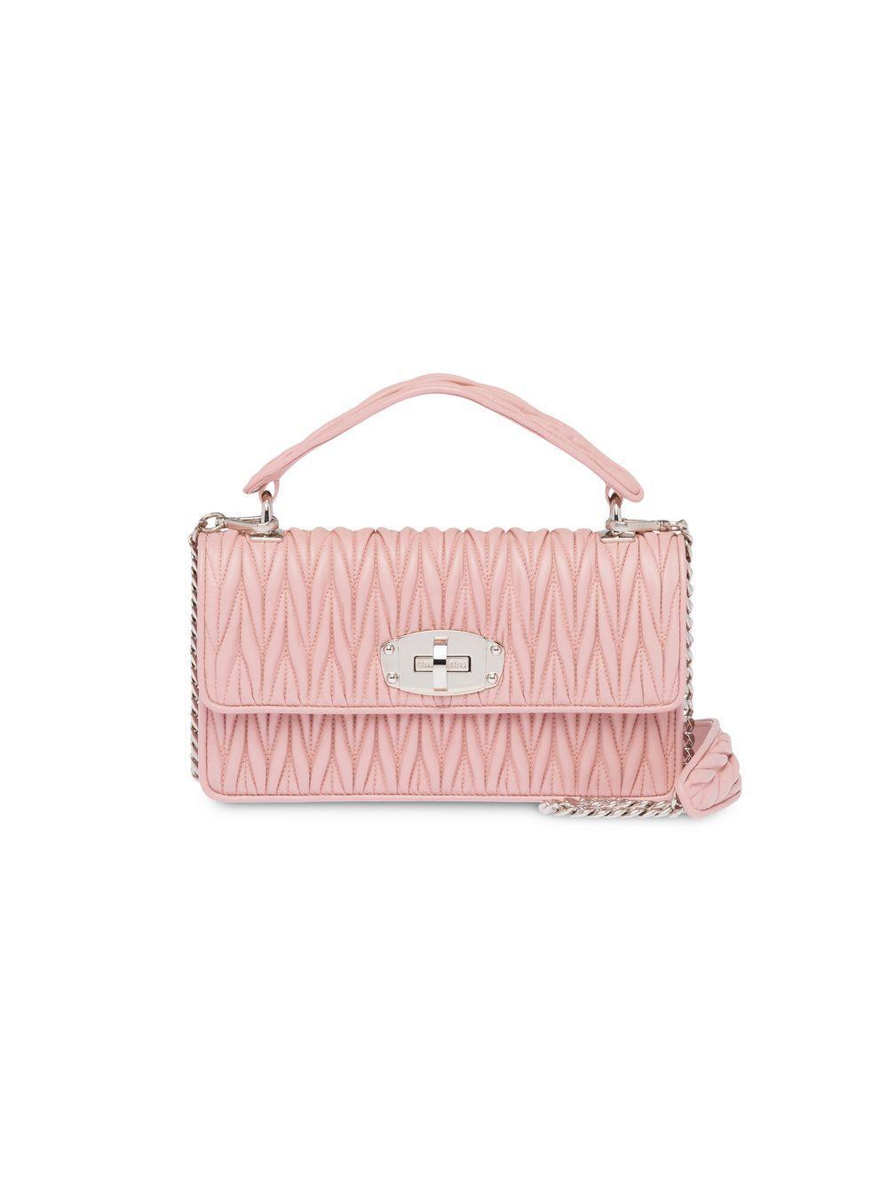 0680b647369 Lyst - Miu Miu Miu Cleo Matelassé Bag in Pink
