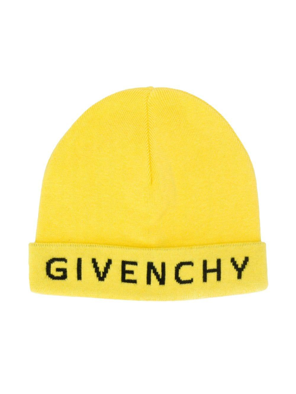 54feb701b Givenchy Logo Beanie Hat in Yellow for Men - Save 33% - Lyst