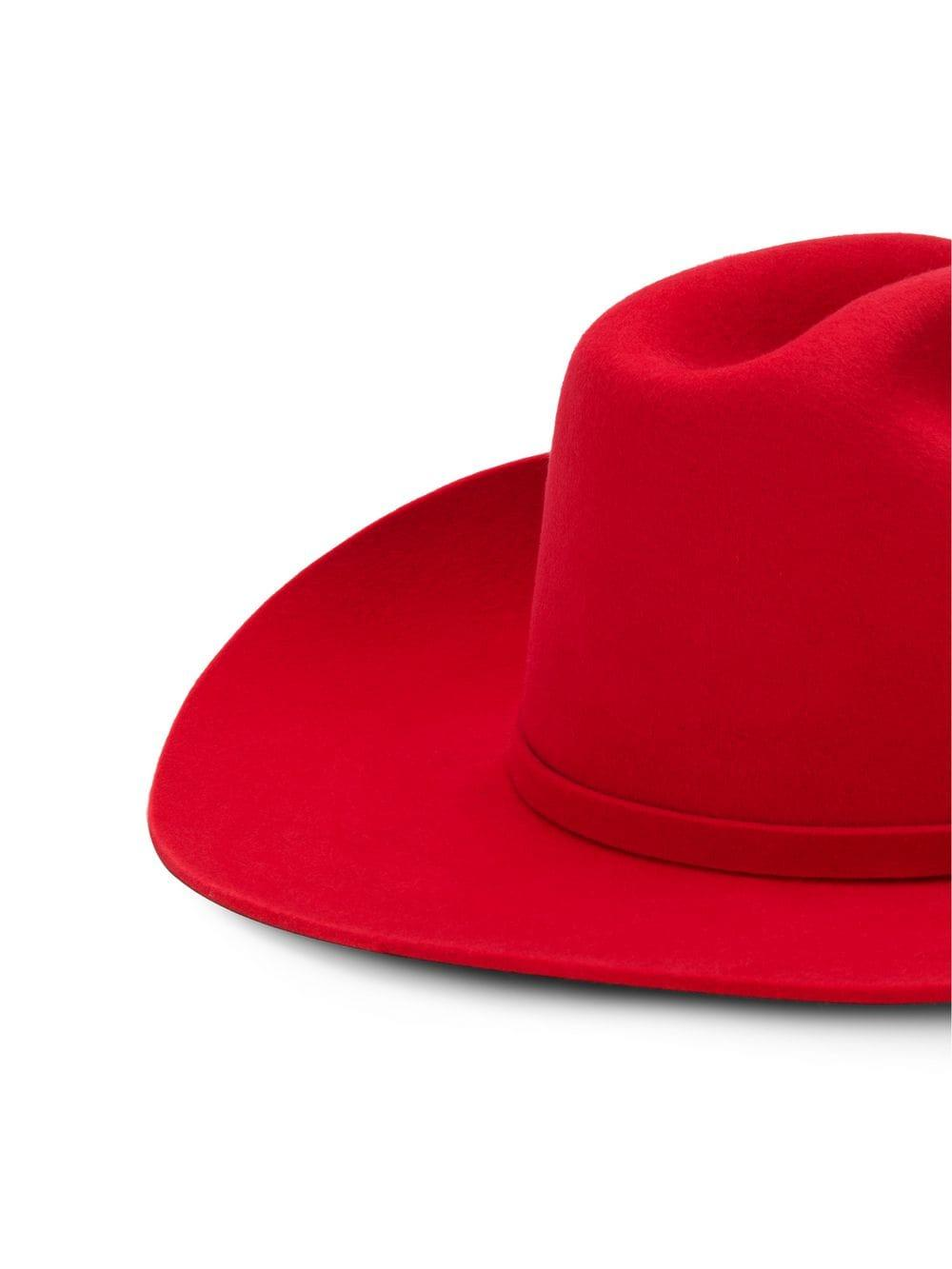 10a780e2e7a997 Lyst - CALVIN KLEIN 205W39NYC Rabbit Fur Felt Cowboy Hat in Red - Save 43%