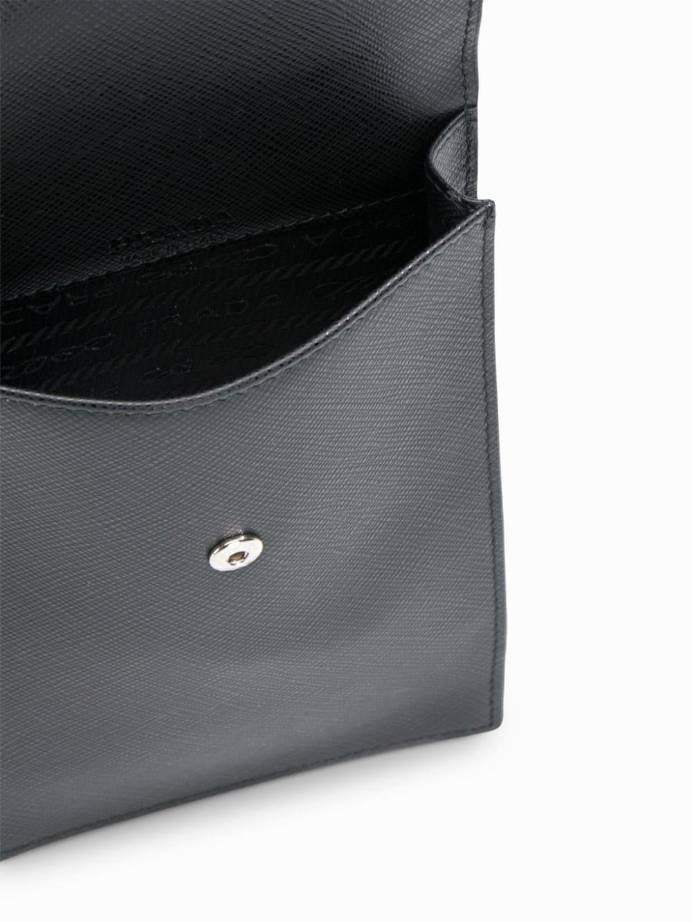 2859c9f53 ... Prada - Black Small Detachable Strap Leather Pouch for Men - Lyst.  Visit Eraldo. Tap to visit site