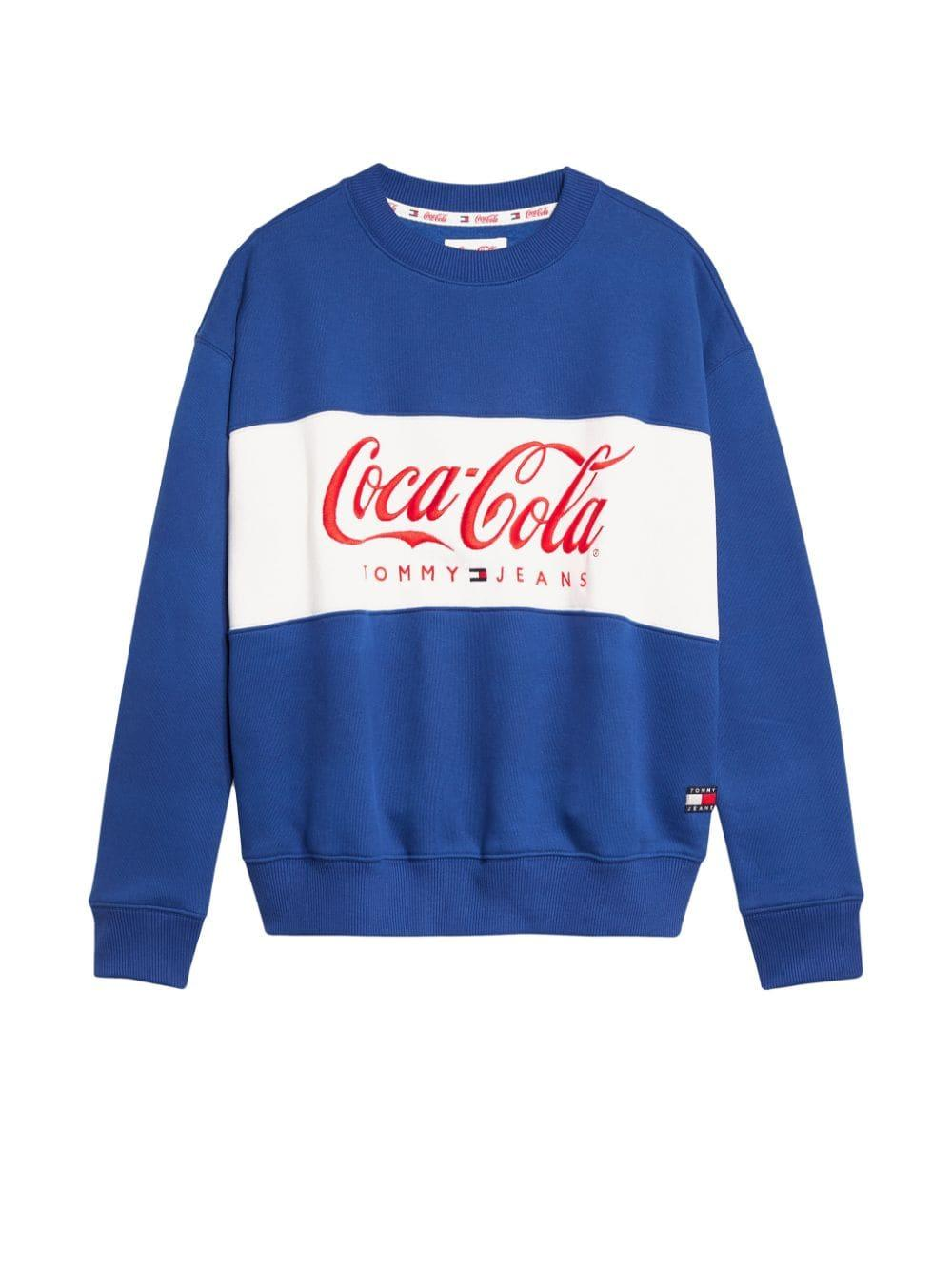 e354e50c1e5 Tommy Hilfiger X Coca Cola Logo Embroidered Sweatshirt in Blue - Lyst