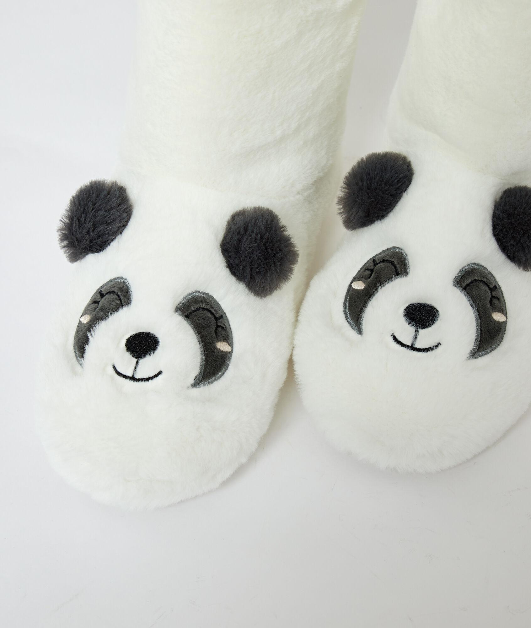 Zapatillas tipo botines panda Etam