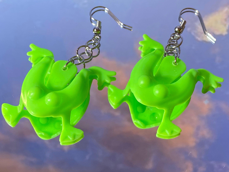 jumping frog earrings