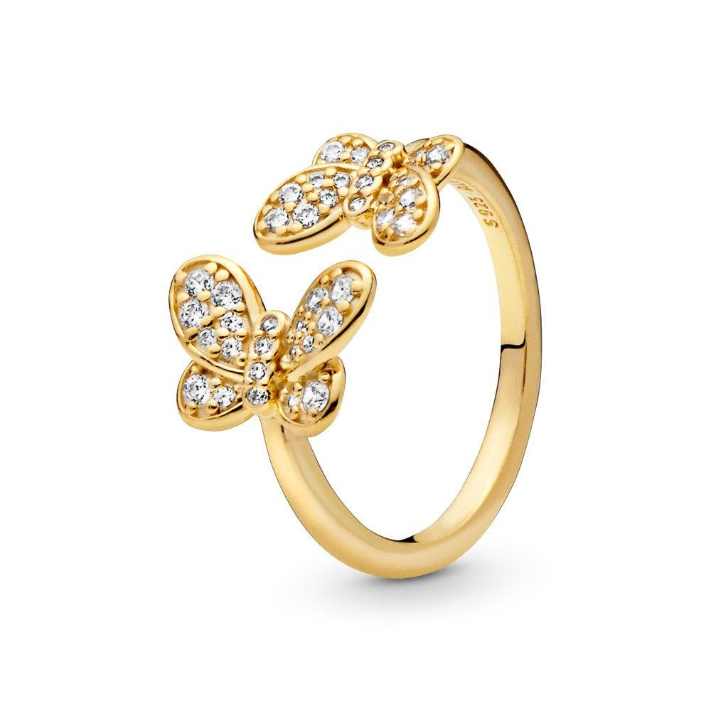 New Pandora Shine Collection Dazzling Butterflies Ring # 167913cz W/box  Size 52