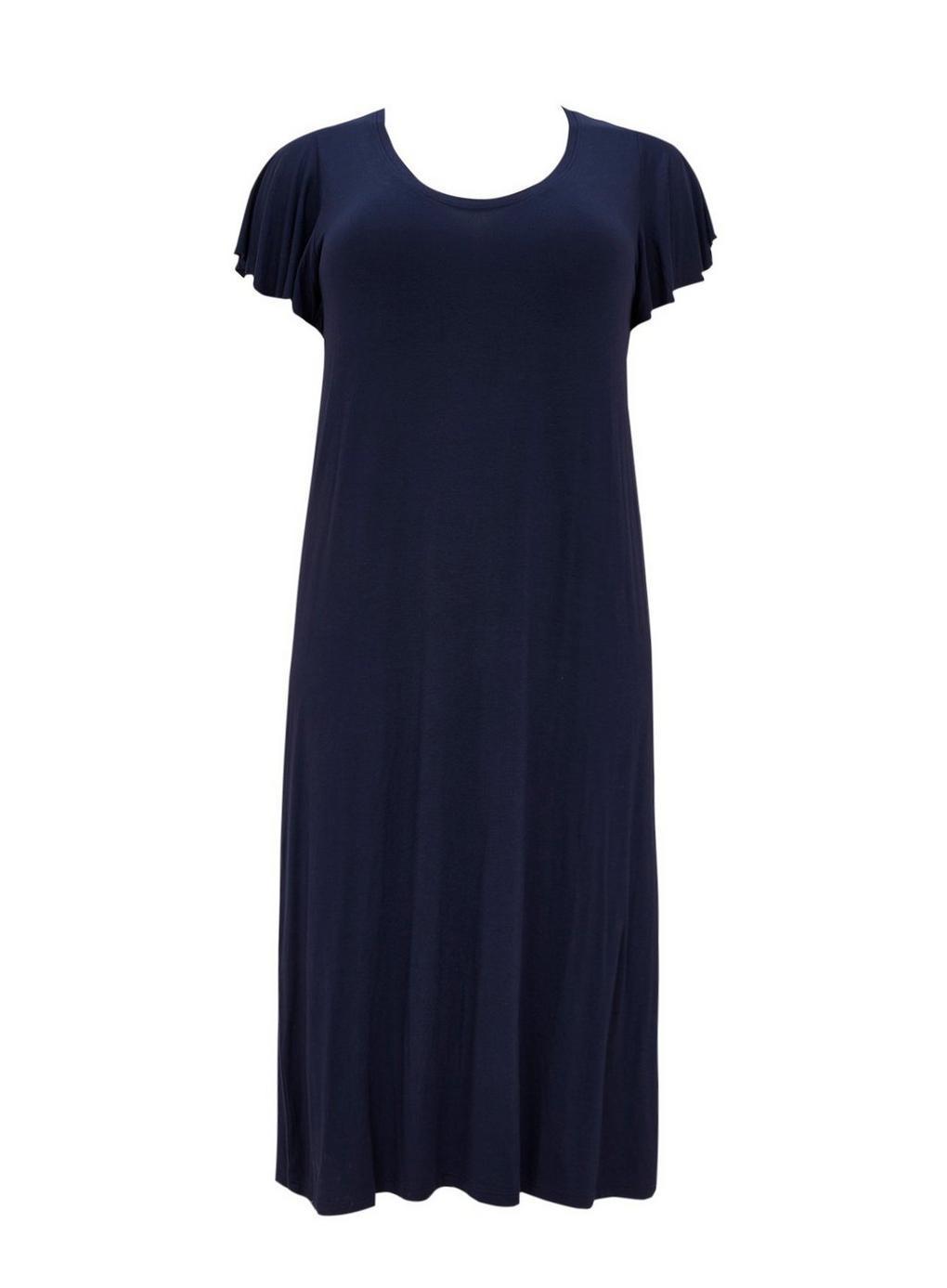 86e4896c6a Evans Navy Blue Midi Nightdress in Blue - Lyst