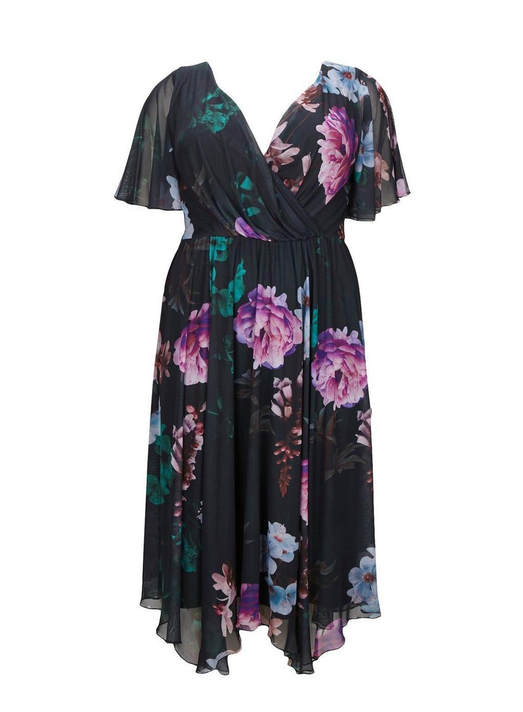 0c8479c861f8 Evans **scarlett & Jo Multi Coloured Juliette Hanky Hem Dress - Lyst