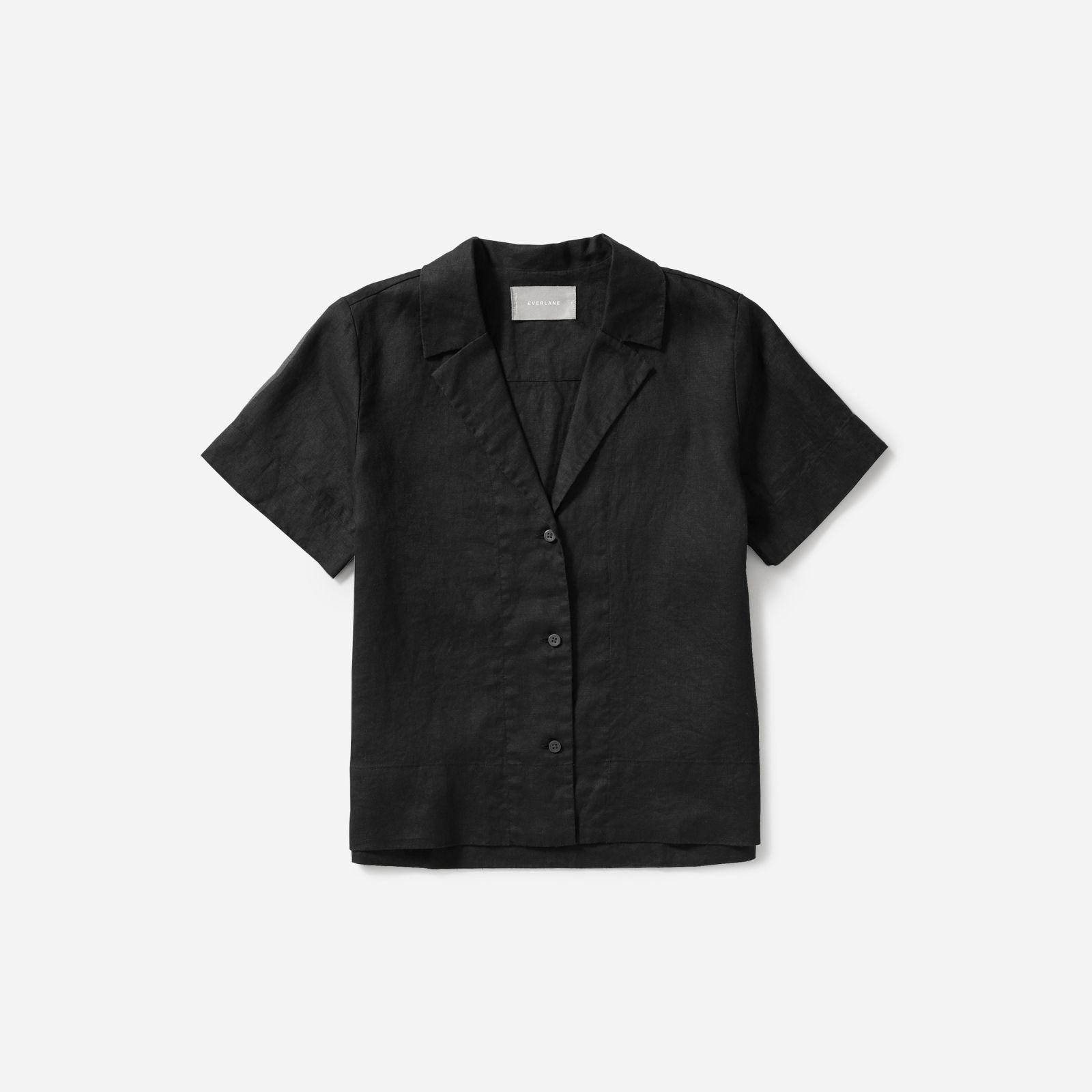 5ad6b205920e53 ... The Linen Notch Short-sleeve Shirt - Lyst. Visit Everlane. Tap to visit  site
