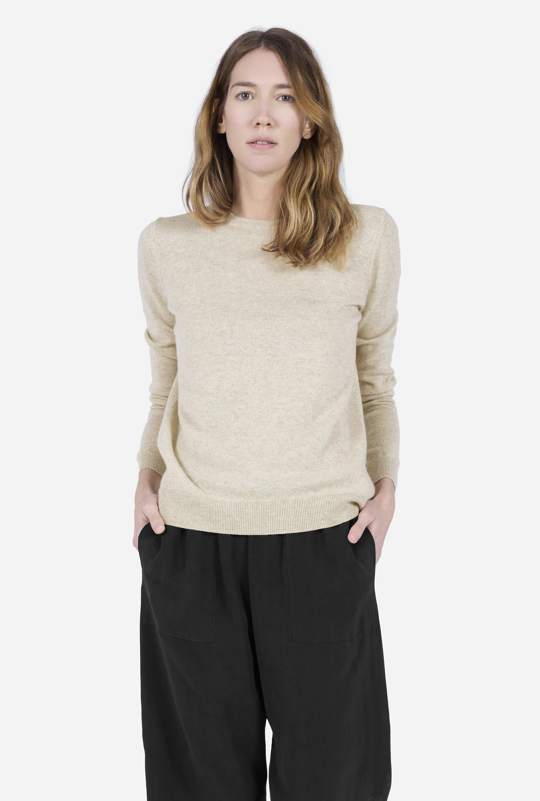 Everlane The Cashmere Crew in Natural | Lyst