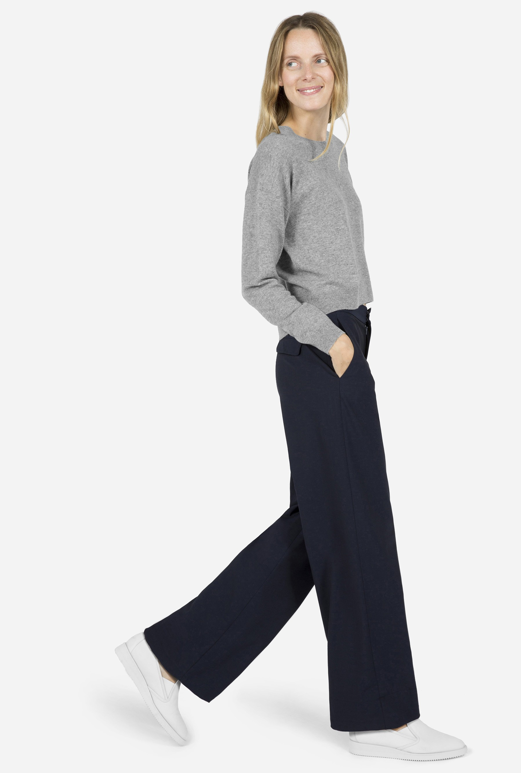 Everlane The Slouchy Wide Leg Pant In Blue Lyst