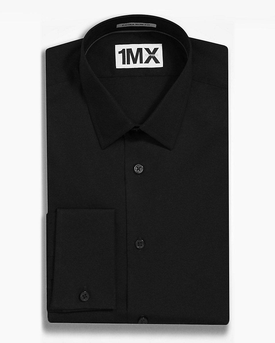 Lyst Express Slim Fit Tech French Cuff 1mx Shirt In
