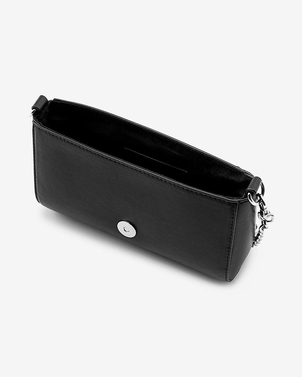 Express Changeable Flap Cross Body Bag in Black