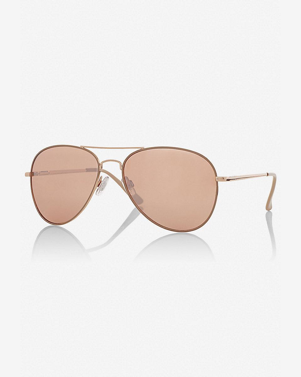 River Island Rose Gold Sunglasses
