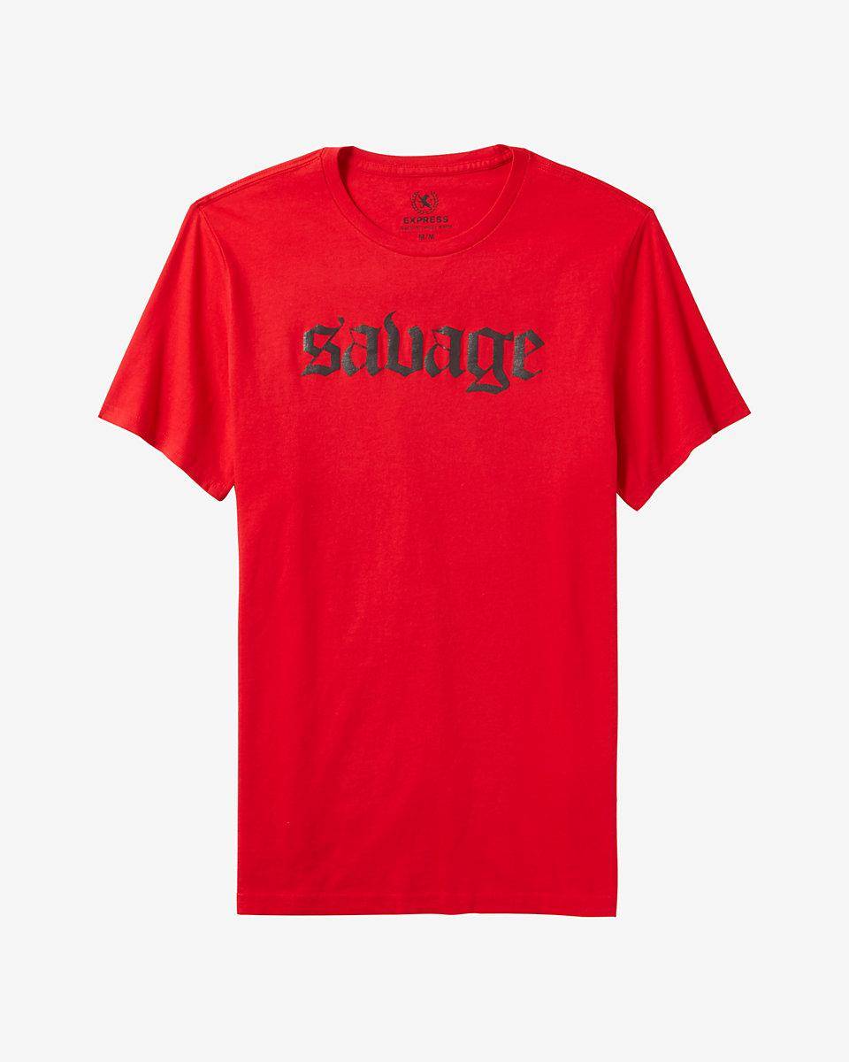 Lyst Express Savage Graphic Tee In Red For Men