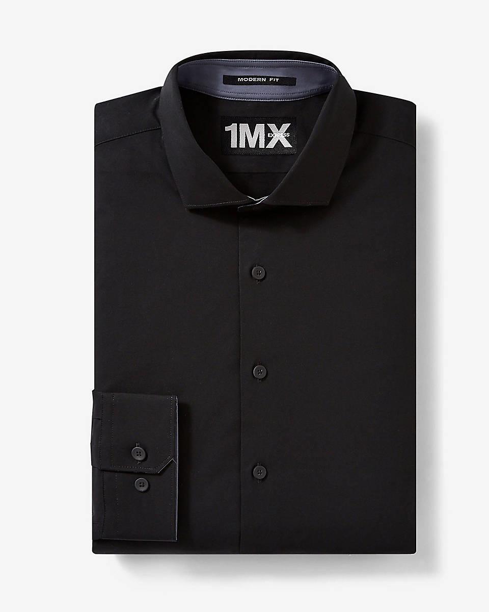 Express Black Tech Modern Fit 1mx Shirt in Black for Men ...