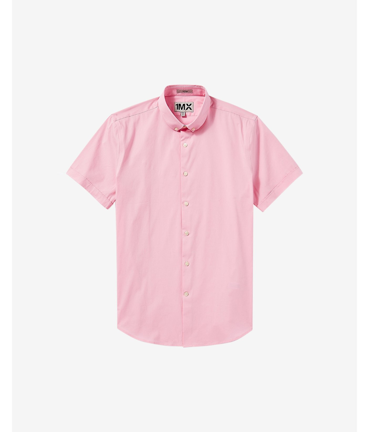 Express Fitted Short Sleeve 1mx Shirt In Pink For Men Lyst