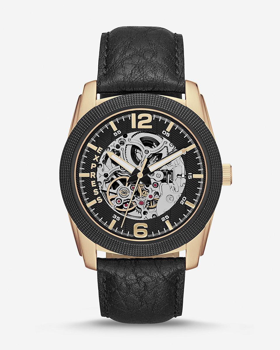 express black and gold stainless steel multi function