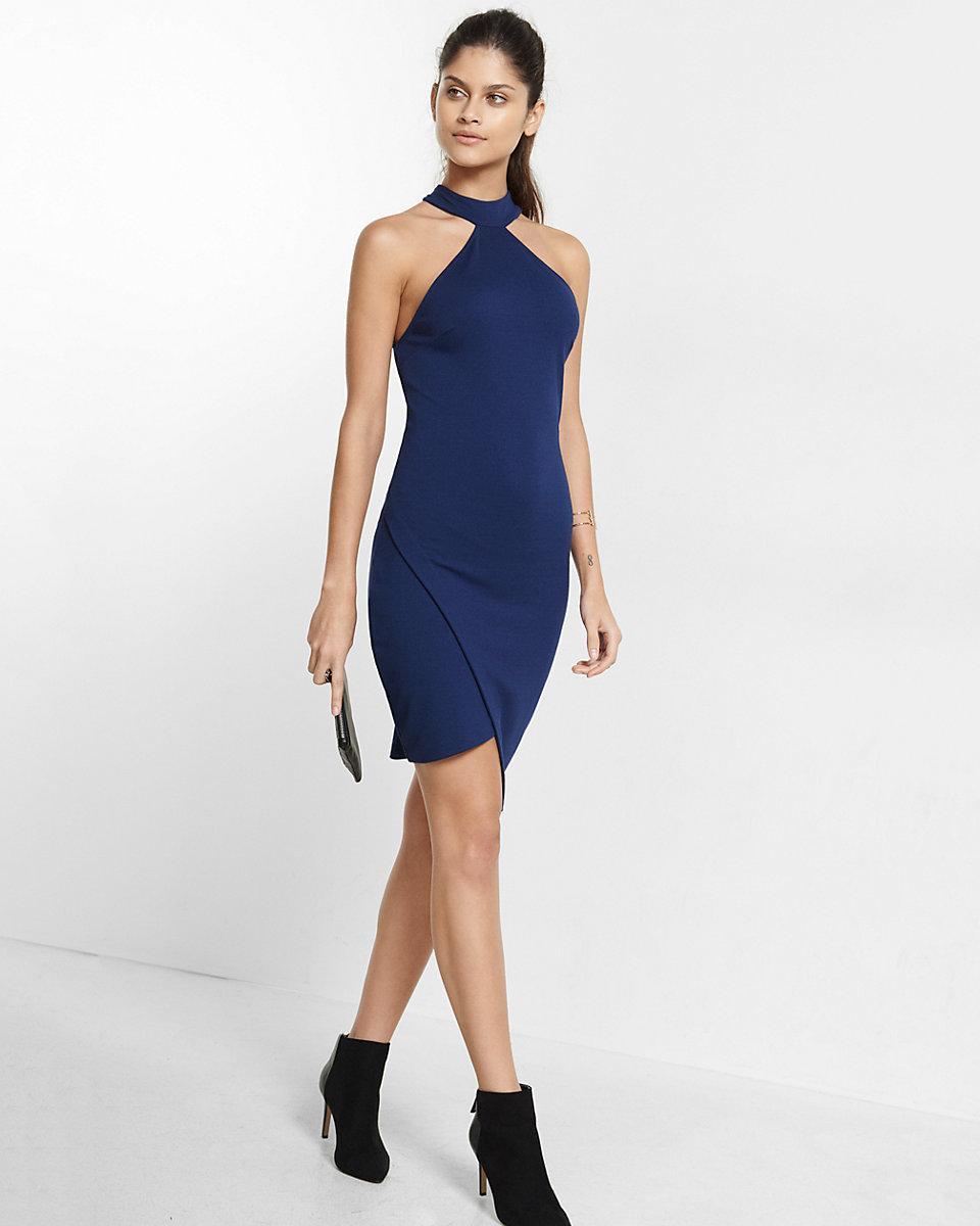 Asymmetrical dress express fashion